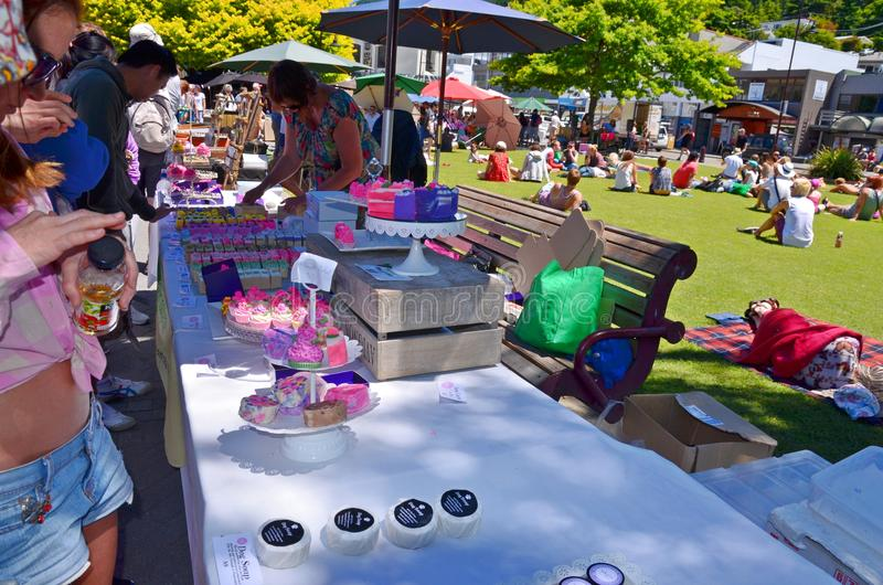 Soap sale at queenstown arts and craft market editorial for Arts and crafts industry