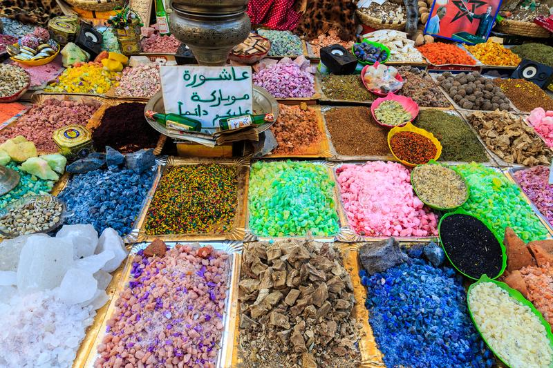 Soap stones being sold on street stal at Morocco market stock image
