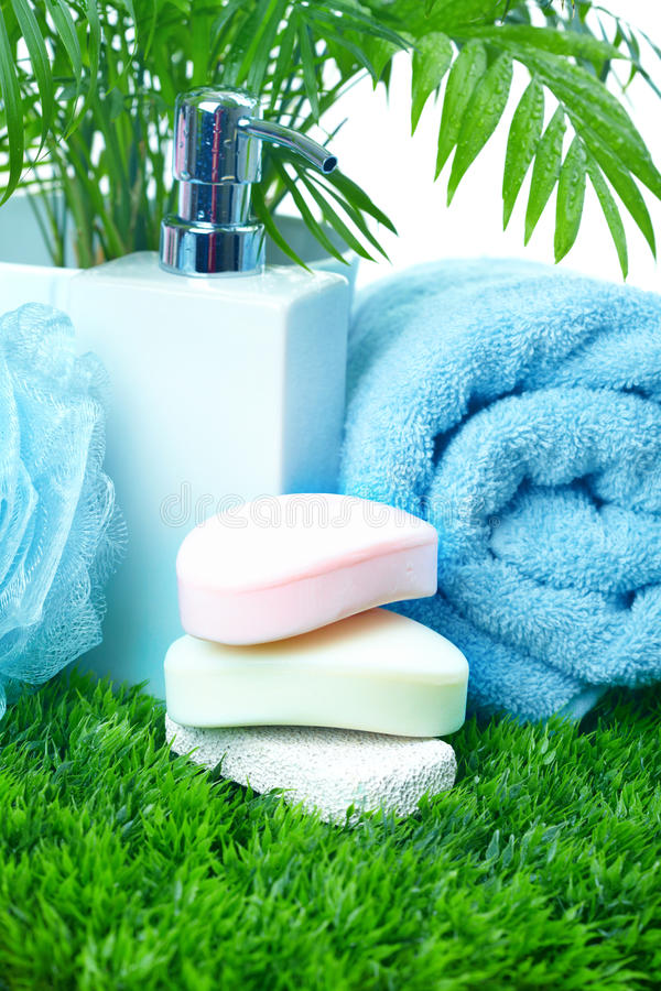 Download Soap and towel. stock photo. Image of soap, nature, bathroom - 13485794