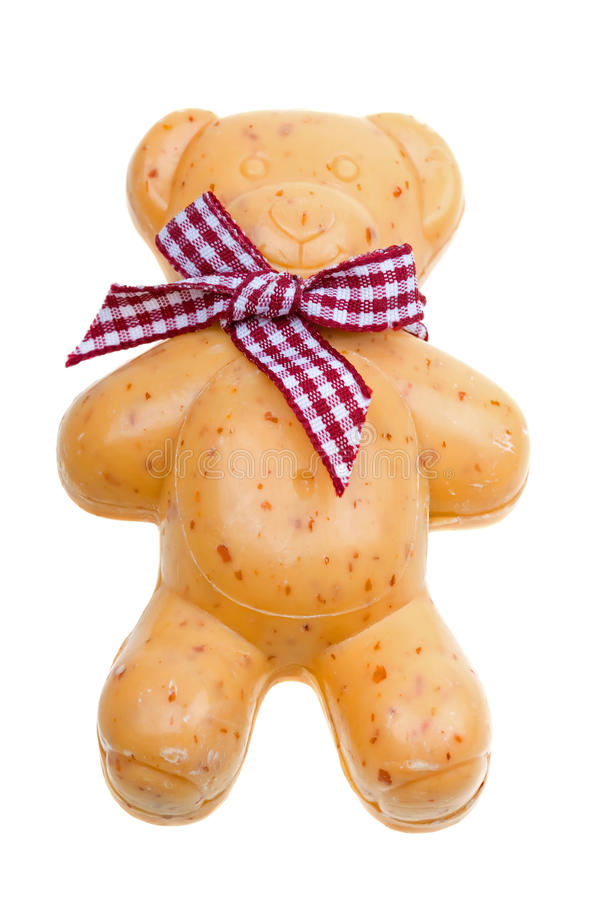 Download Soap Toy The Yellow Bear Isolated On A White Stock Photography - Image: 10014642
