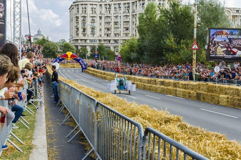 Soapbox Bucareste 2014 de Red Bull fotos de stock royalty free