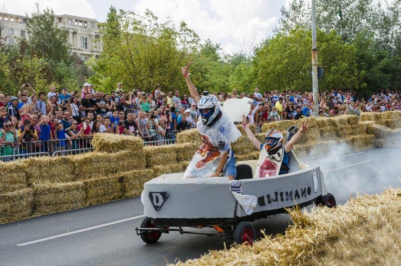 Soapbox Bucareste 2014 de Red Bull foto de stock royalty free