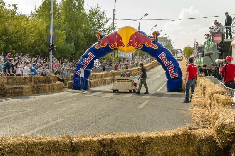 Soapbox Bucareste 2014 de Red Bull fotografia de stock