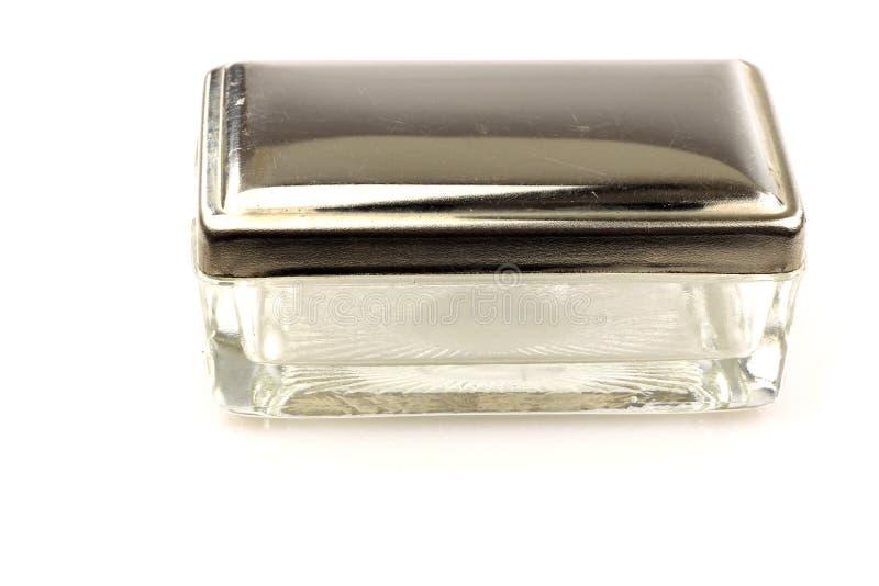 Soapbox di vetro e del metallo dell'annata fotografia stock libera da diritti