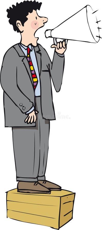 Soapbox mężczyzna royalty ilustracja