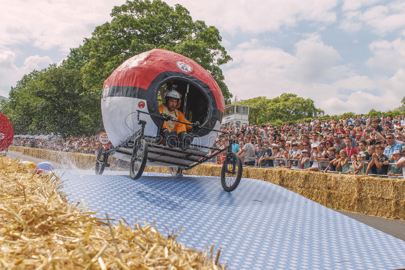 Soapbox Pokemon GoKart de Red Bull imagem de stock