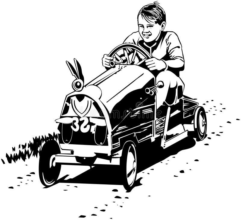 Soapboxraceauto royalty-vrije illustratie