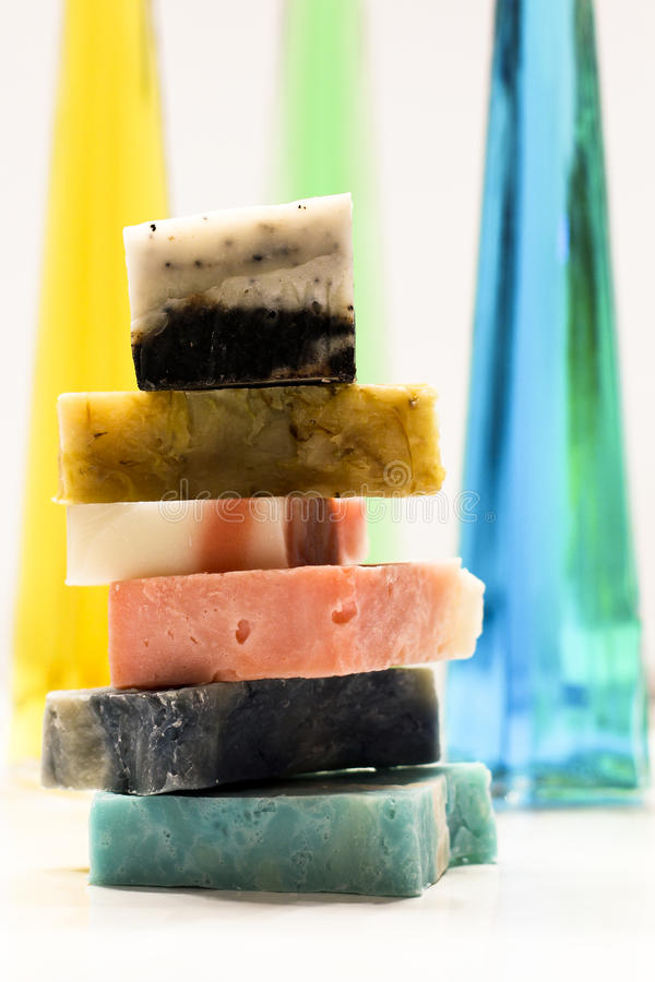 Soaps Stacked royalty free stock photo