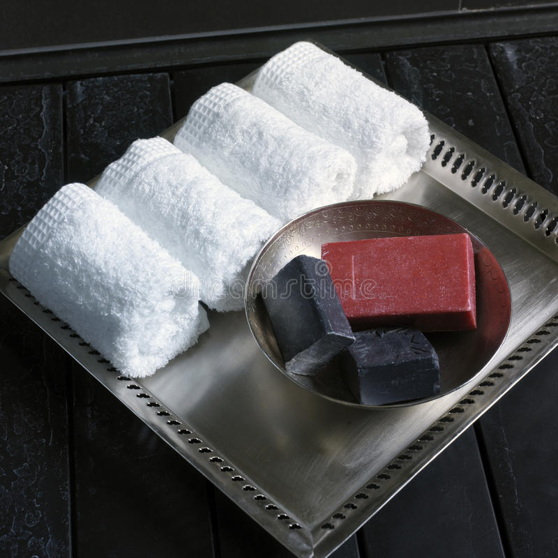 Soaps and towels