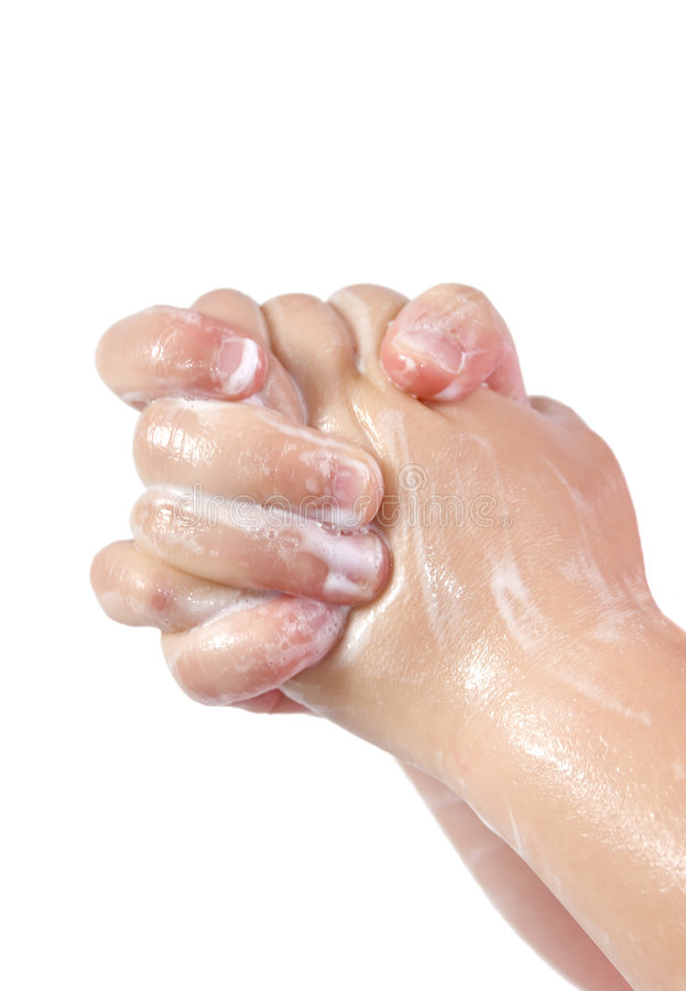 Soapy Hands Royalty Free Stock Images