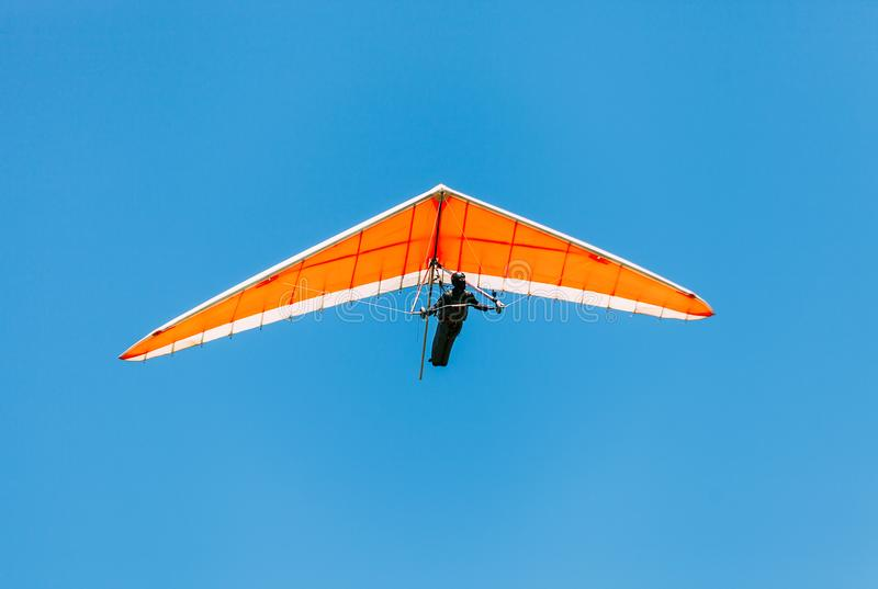 Soaring hang gliding in the sky royalty free stock photos