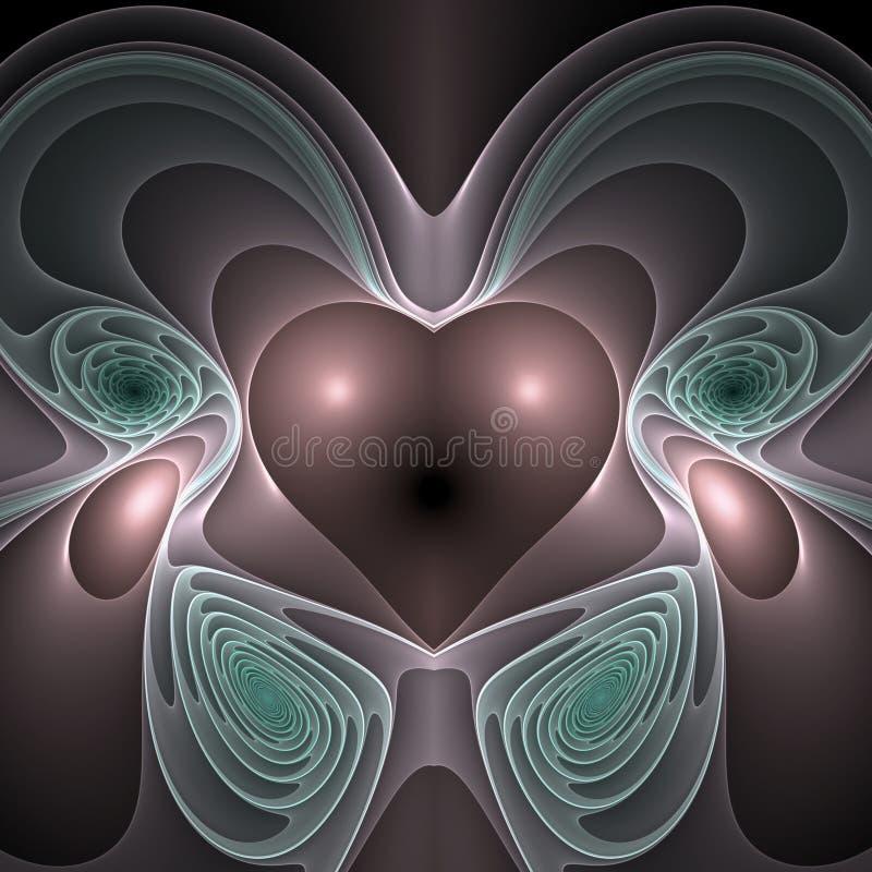 Soaring pink heart royalty free illustration