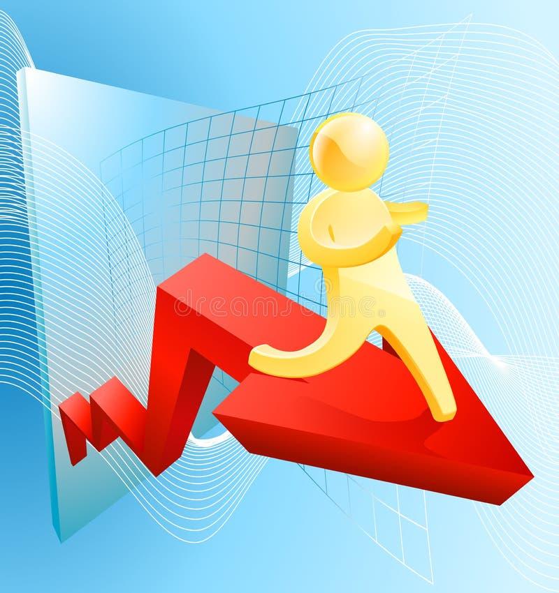 Soaring profit concept stock illustration