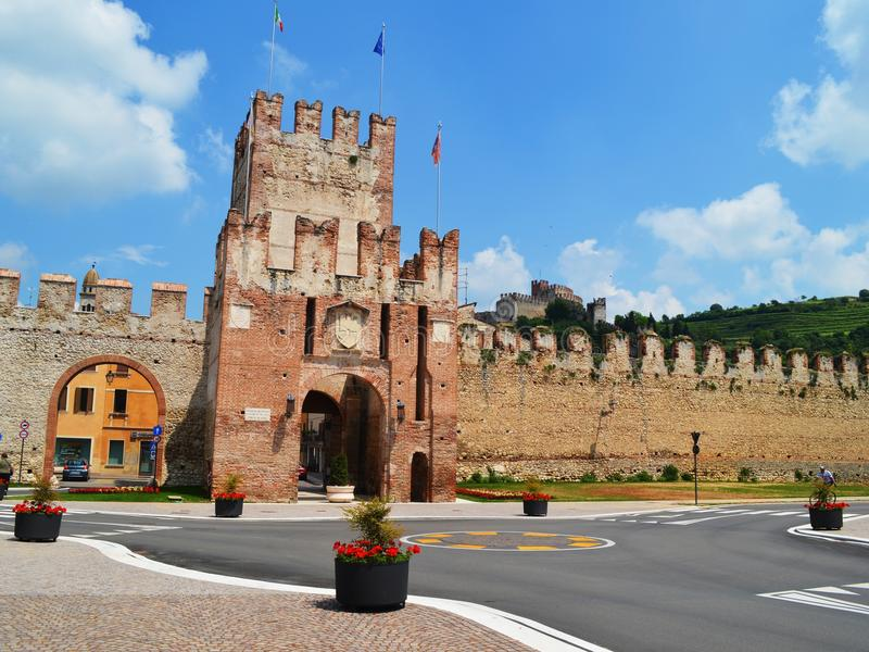 Soave defending walls stock images