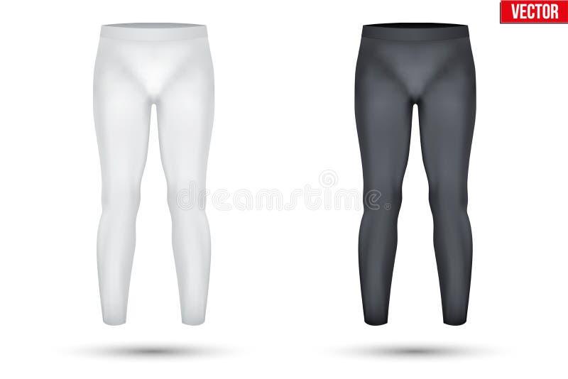 Sob calças da compressão da camada da tela thermo ilustração do vetor