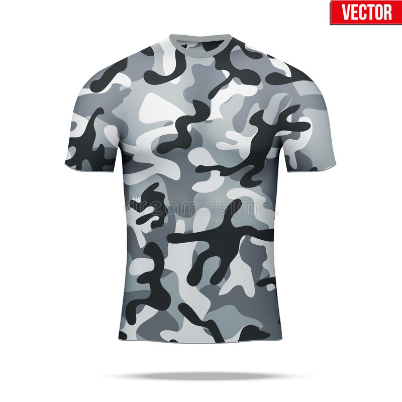 Sob a camisa da compressão da camada no estilo da camuflagem ilustração royalty free
