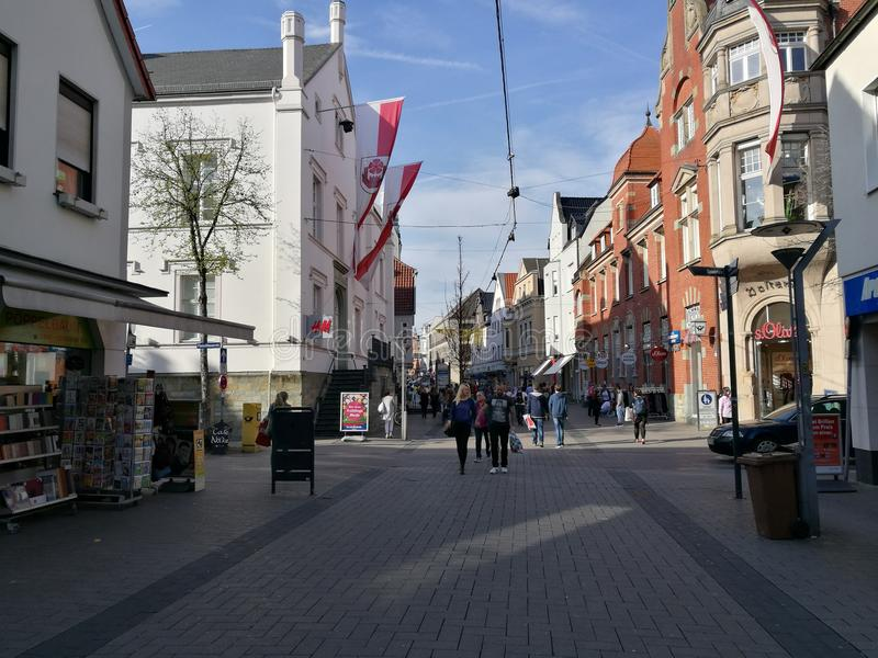 Sob a cidade Sun de Lippstadt fotografia de stock royalty free