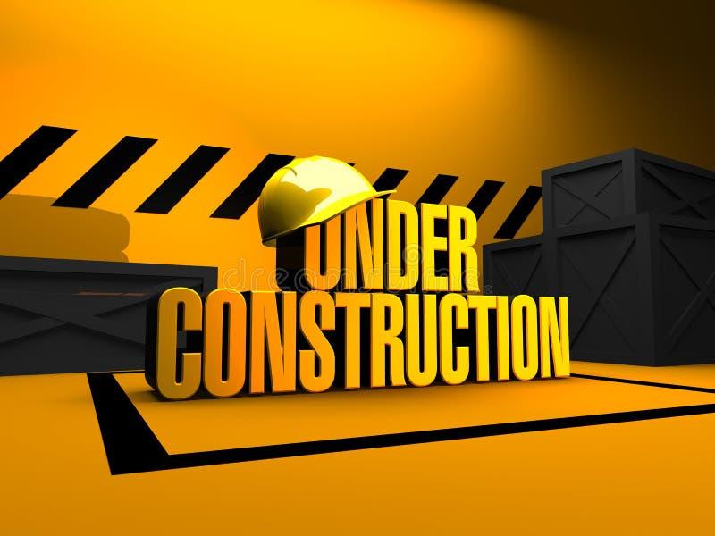 Sob a construção 3D rendem ilustração stock