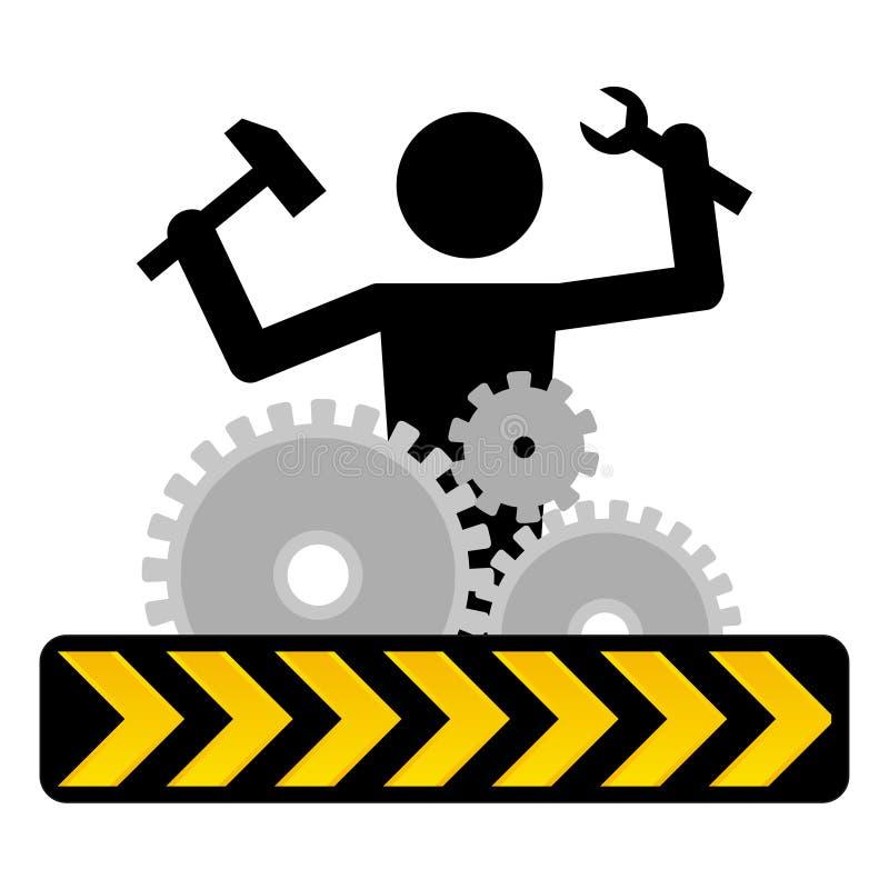 Sob a construção ilustração stock