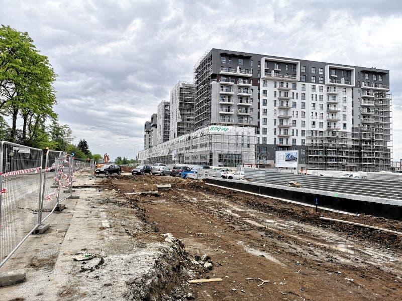 Sob a construção que constrói no norte da capital fotografia de stock