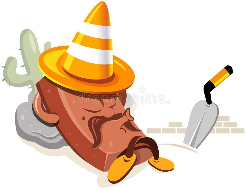 Sob desenhos animados da construção ilustração stock