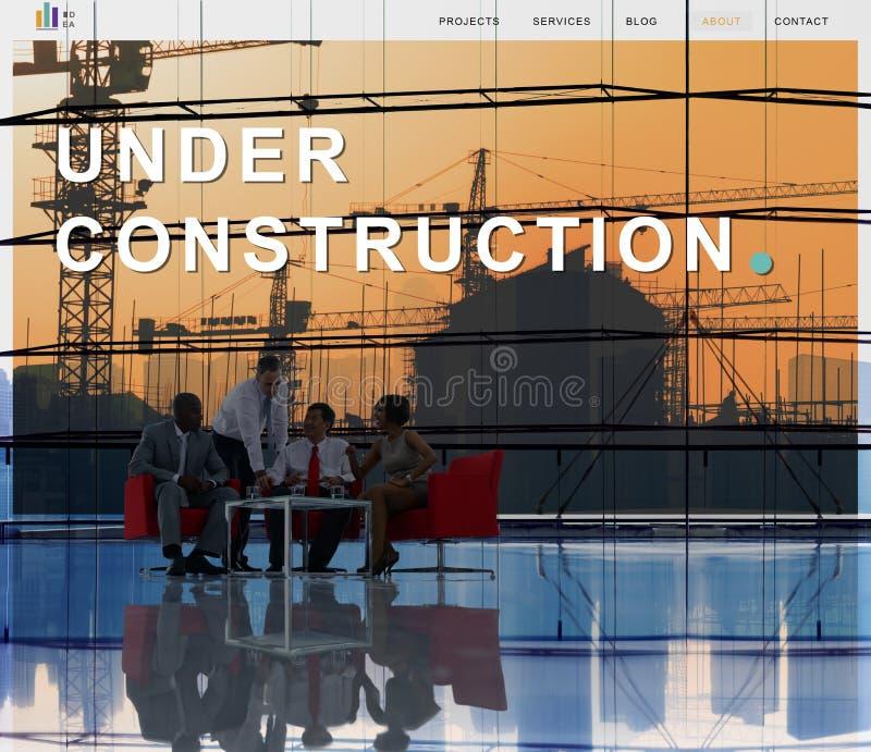 Sob o conceito da arquitetura da construção da construção imagem de stock