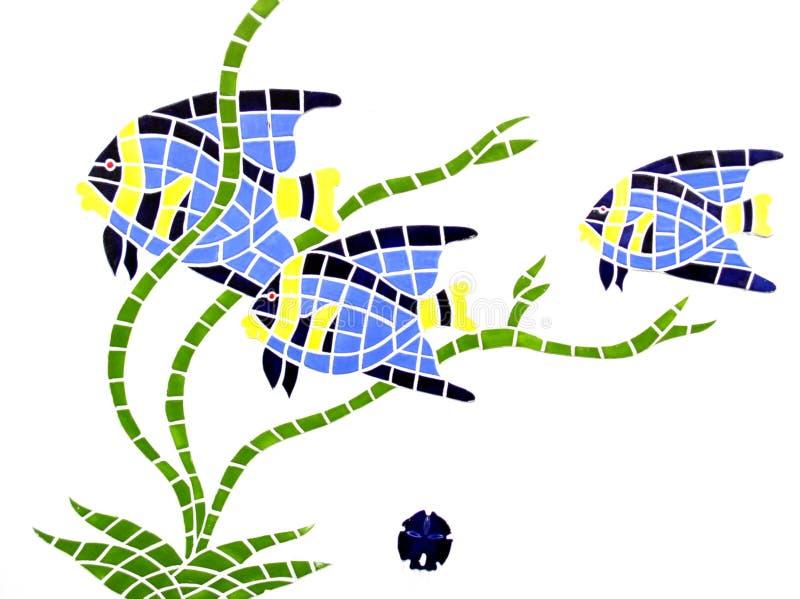 Sob o mosaico do mar foto de stock royalty free