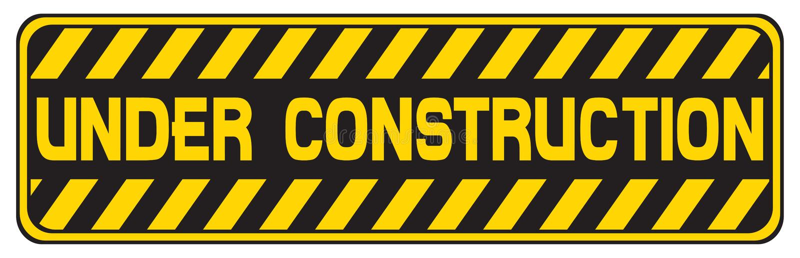 Sob o sinal da construção ilustração stock