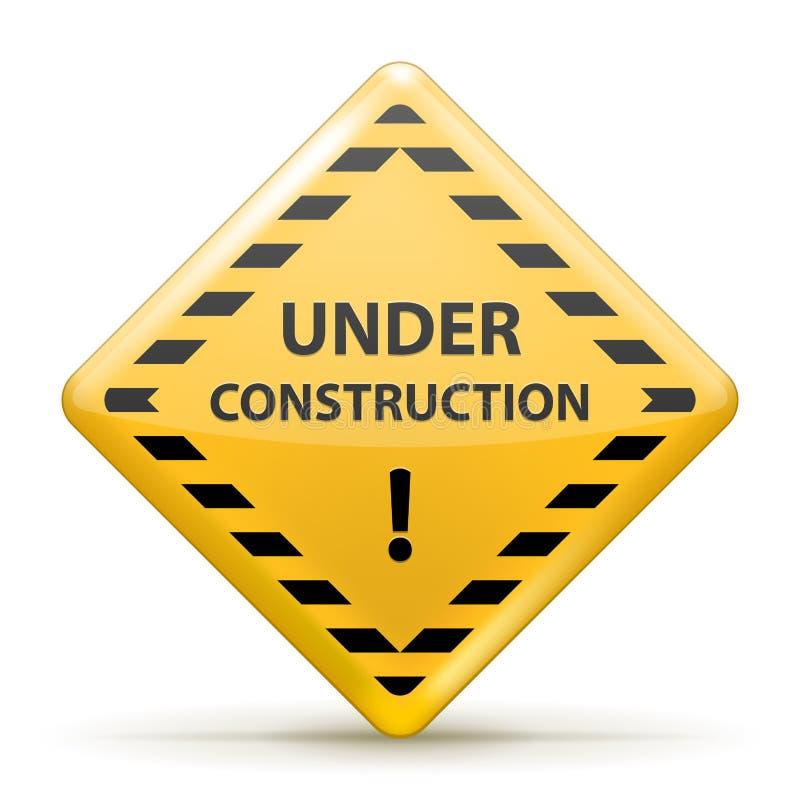 Sob o sinal da construção ilustração royalty free