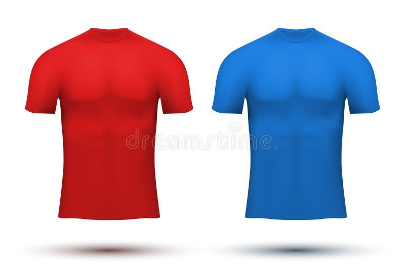 Sob o t-shirt da compressão da camada da tela thermo ilustração stock