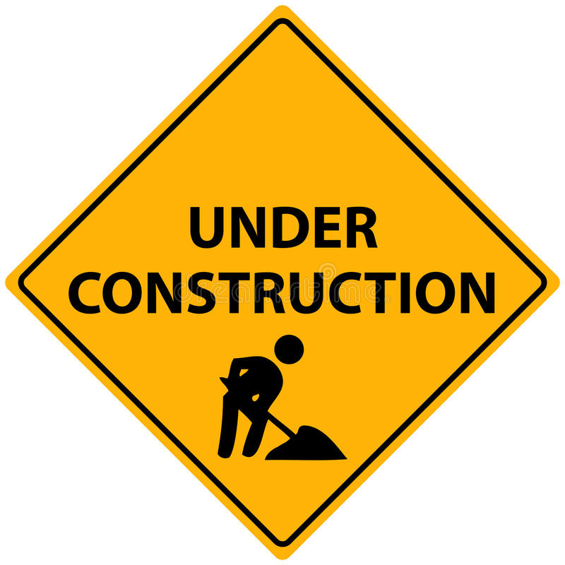 Sob o vetor da construção ilustração stock