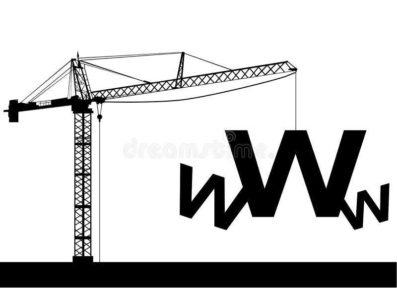 Sob o Web da construção ilustração do vetor