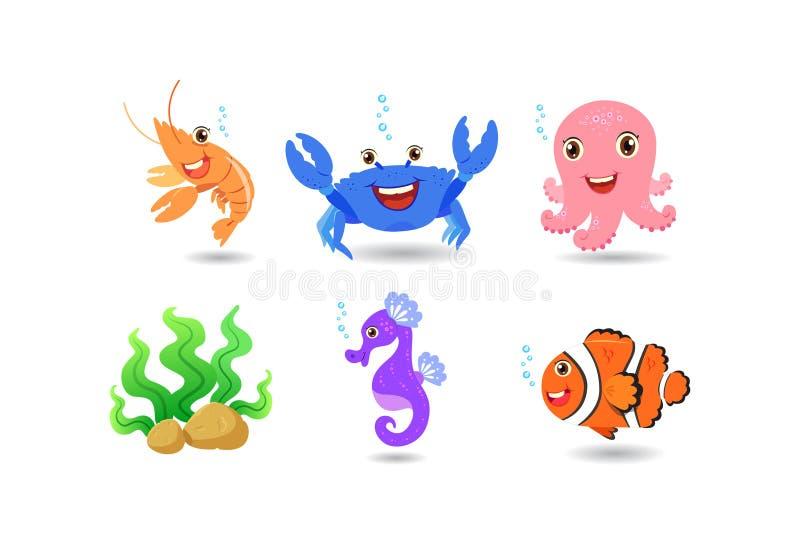 Sob os desenhos animados do mar fotos de stock royalty free
