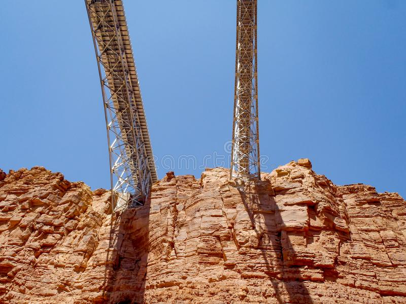 Sob pontes do Navaho fotos de stock royalty free