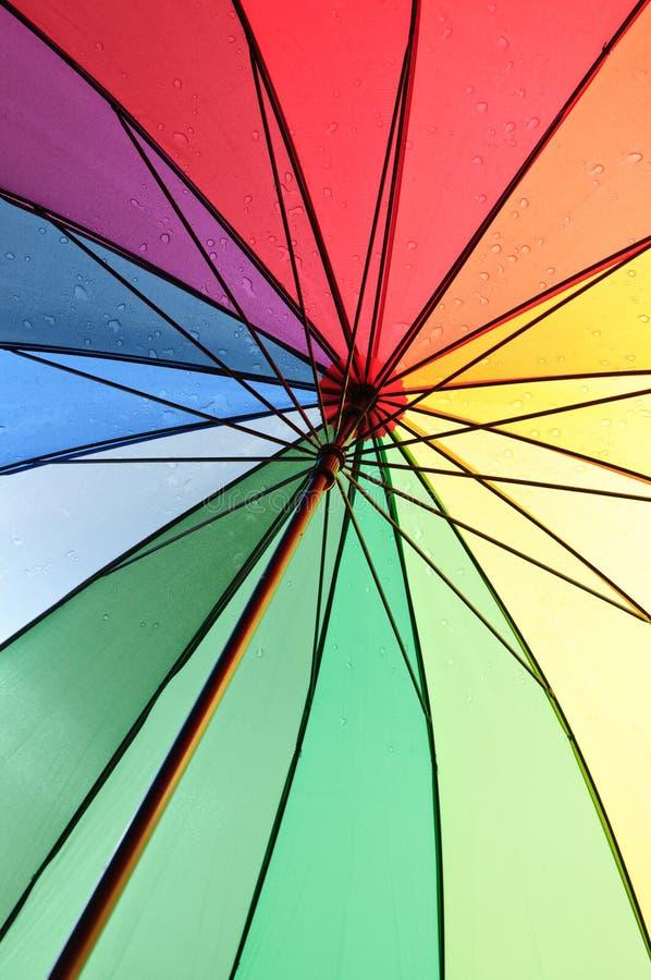 Sob um guarda-chuva fotografia de stock