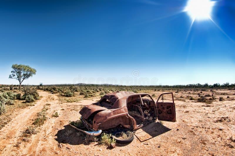 Sob um sol quente fotografia de stock