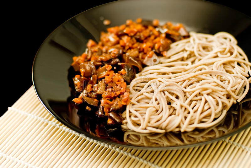 Soba noodles royalty free stock image