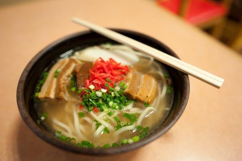 Soba van Okinawa stock fotografie
