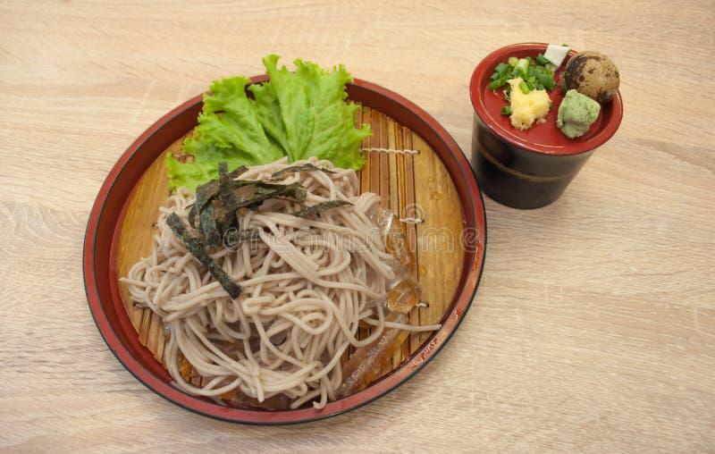 Soba Zaru (японский холод лапши) стоковое фото rf