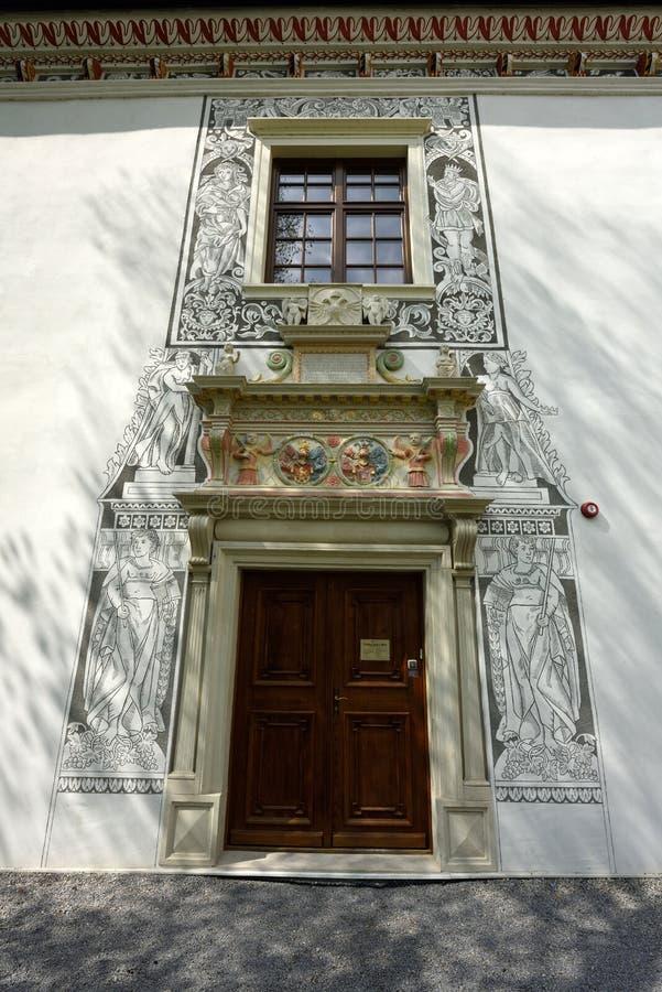 Sobasny palac, Bytca,斯洛伐克 免版税库存照片