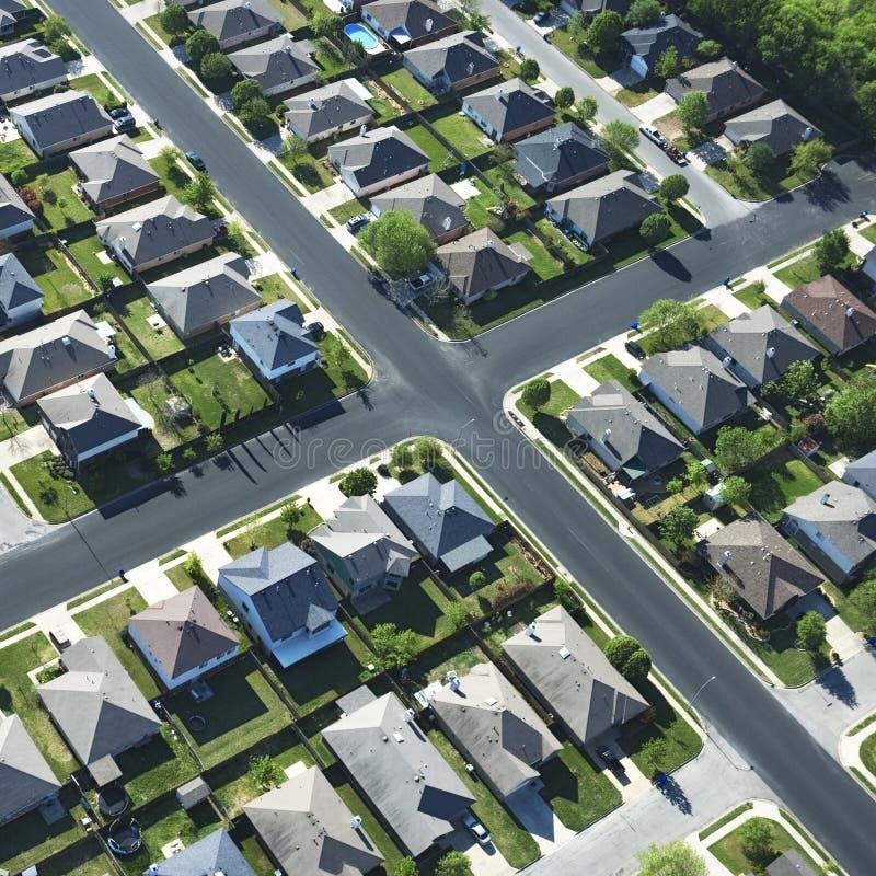 Sobborgo del Texas. immagini stock
