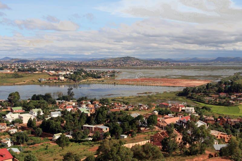 Sobborgo di Antananarivo fotografia stock