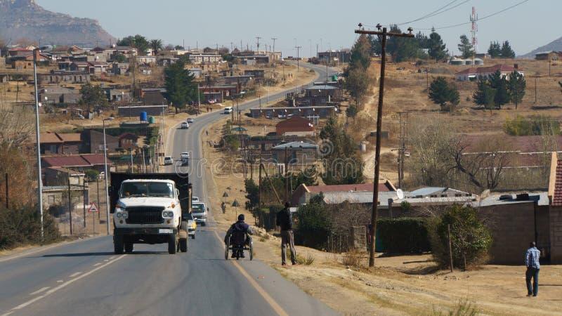 Sobborgo di Maseru fotografie stock libere da diritti