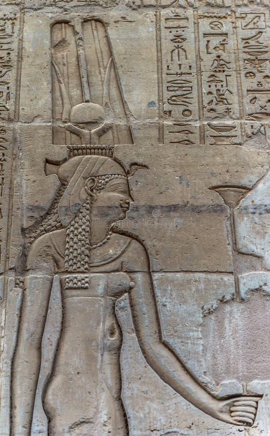 Sobek świątynia w Kom Ombo, Egipt zdjęcie royalty free
