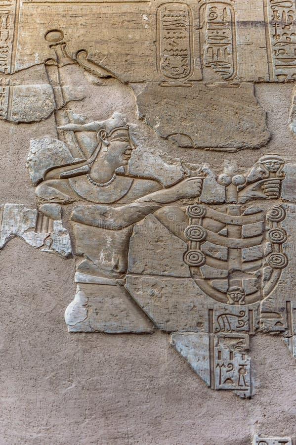Sobek świątynia w Kom Ombo, Egipt zdjęcia stock