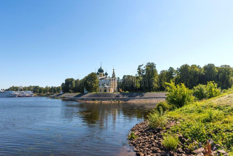 Sobor van Preobrazhensky van de Transfiguratiekathedraal van het Kremlin in Uglich, Rusland stock afbeelding