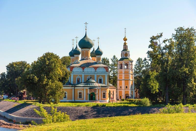 Sobor van Preobrazhensky van de Transfiguratiekathedraal van het Kremlin in Uglich, Rusland stock afbeeldingen
