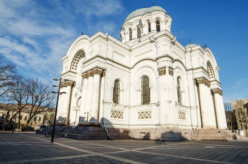 Soboras i Kaunas, Litauen royaltyfri bild
