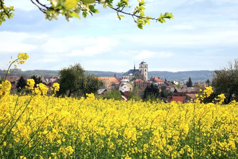 Sobotka、捷克镇和绳索 免版税图库摄影
