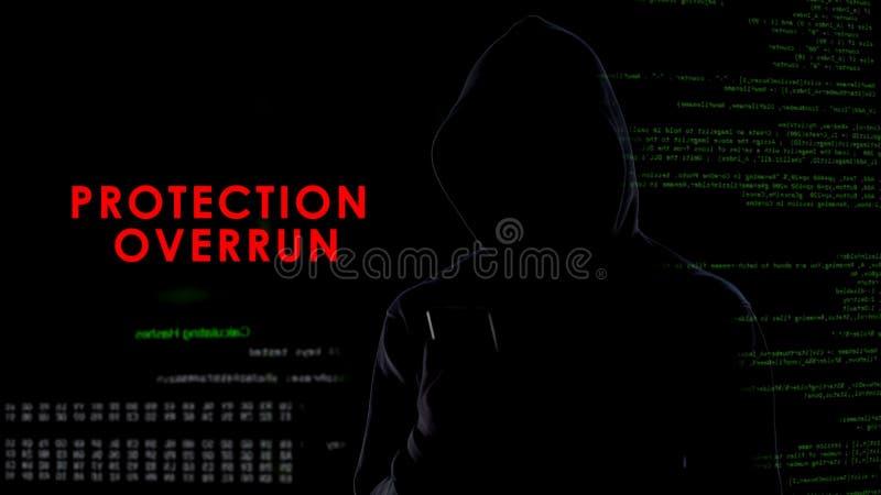 Sobrante de la protección, hombre oscuro anónimo que corta el sistema de seguridad del smartphone fotos de archivo libres de regalías